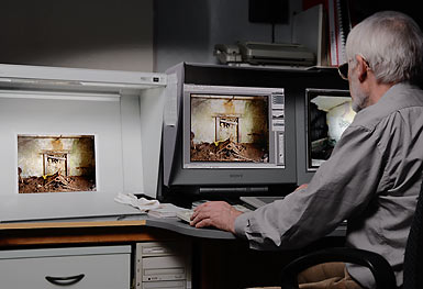 preparing Heidelberg Primescan for drum scanning